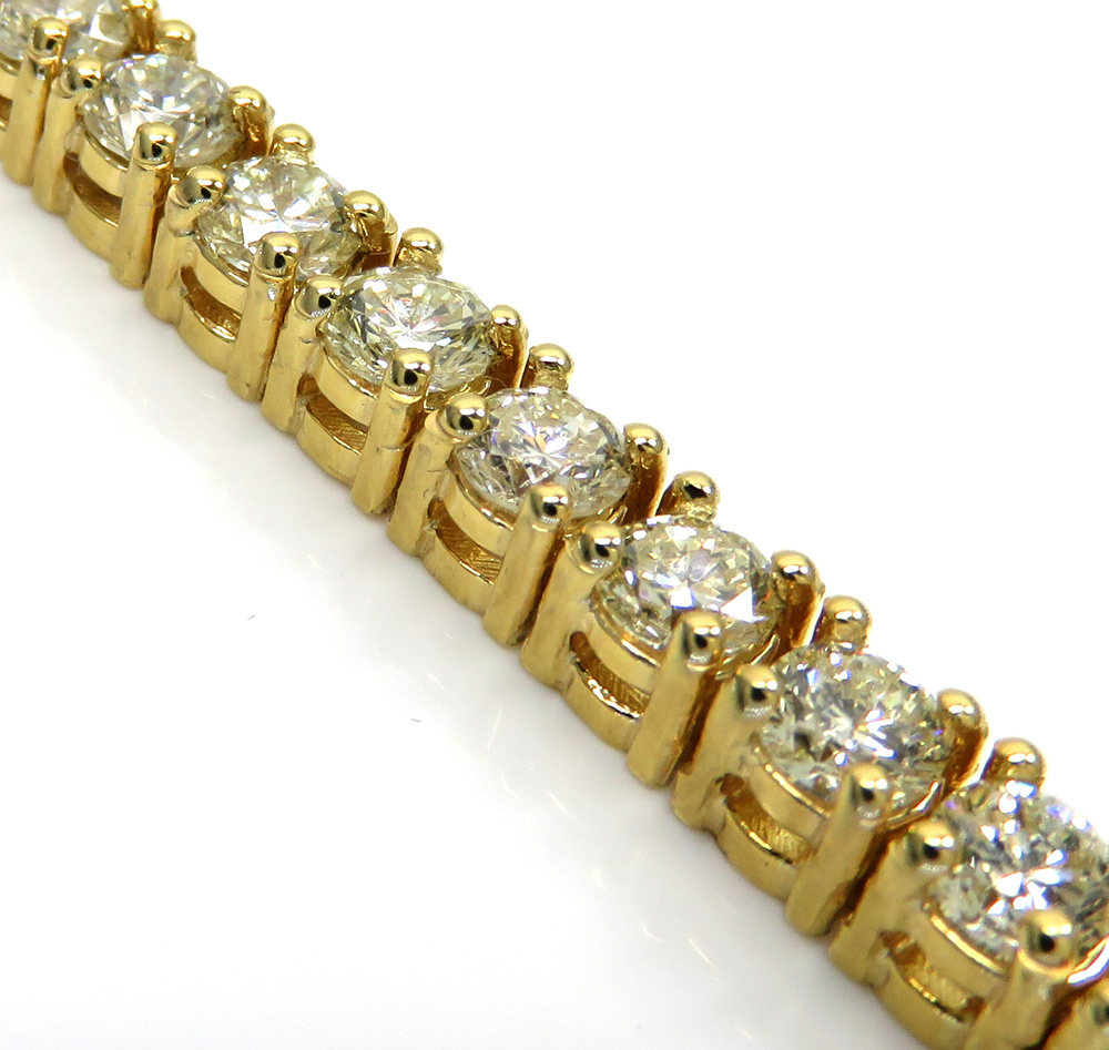 14k yellow gold 20 pointer diamond tennis bracelet 8 inch 9.82ct