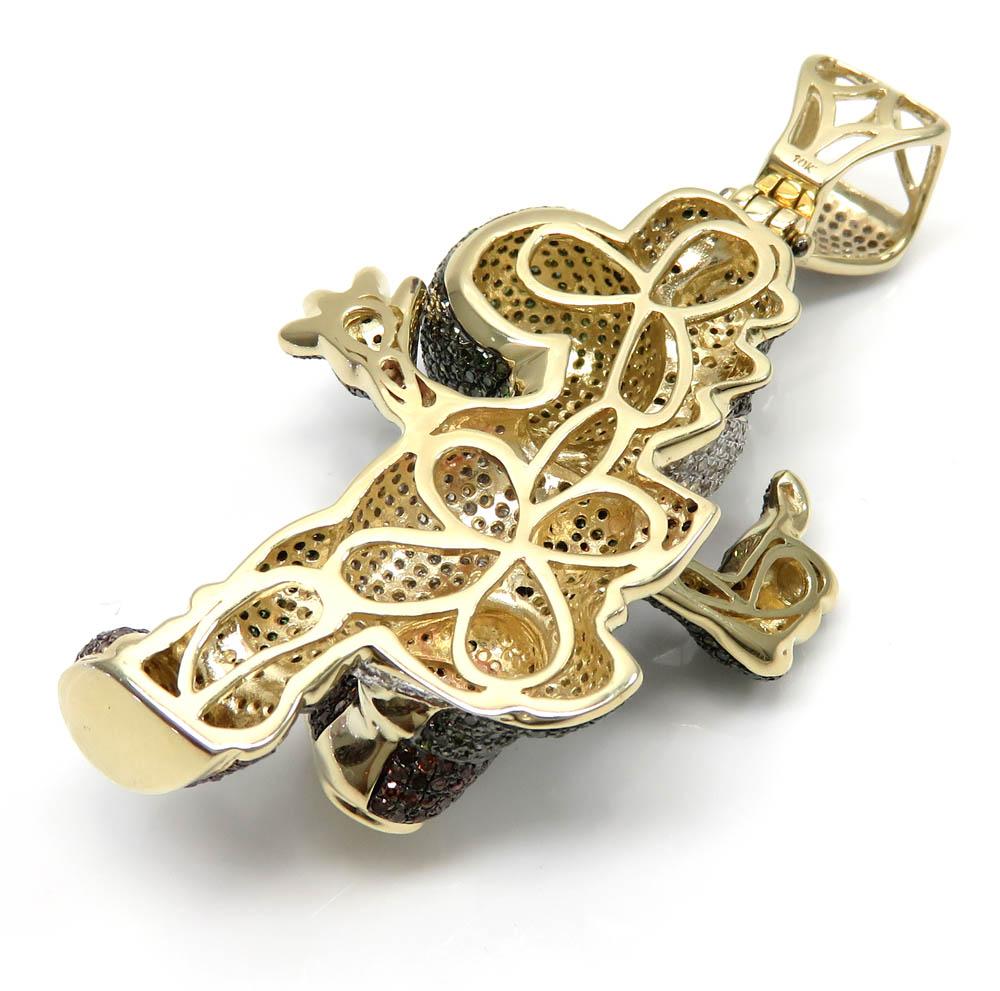 Yoshi 10k yellow gold diamond pendant 8.00ct