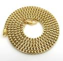 14k yellow gold solid tight franco link chain 22 inch 3mm