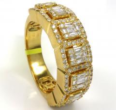 14k rose white or yellow gold round & baguette vs diamond ring 1.62ct