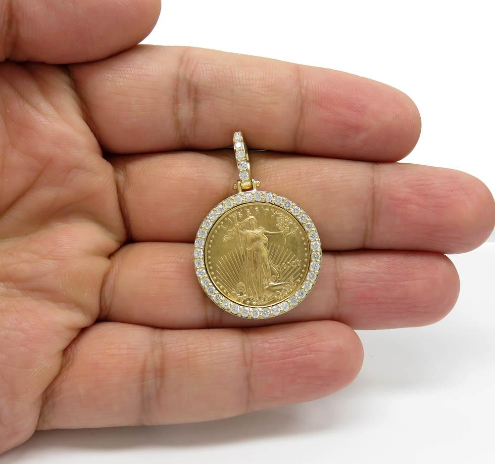 1//20 ozt gold lady liberty pendant 14k gold bezel