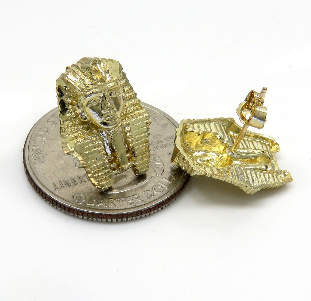 10k yellow gold small king tut earrings