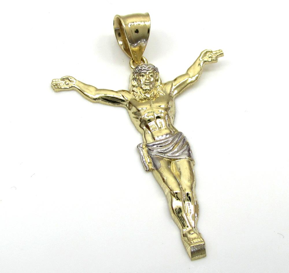 10k yellow gold medium hanging jesus charm