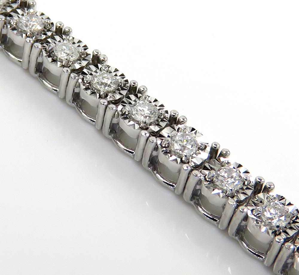 14k white gold 2.50 pointer diamond tennis bracelet 7 inch 1.50ct