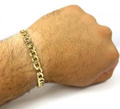 10k yellow gold hollow cuban bracelet 8.50 inch 7.5mm
