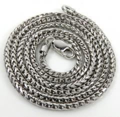 10k white gold solid franco link chain 18-24 inch 2mm