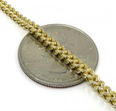 10k yellow gold hollow diamond cut franco chain 18-24 inch 3mm