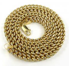 10k yellow gold diamond cut franco link chain 18-26 inch 6mm