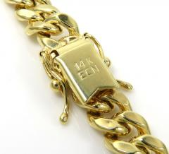 14k yellow gold hollow miami cuban link chain 18-24 inches 6.50mm