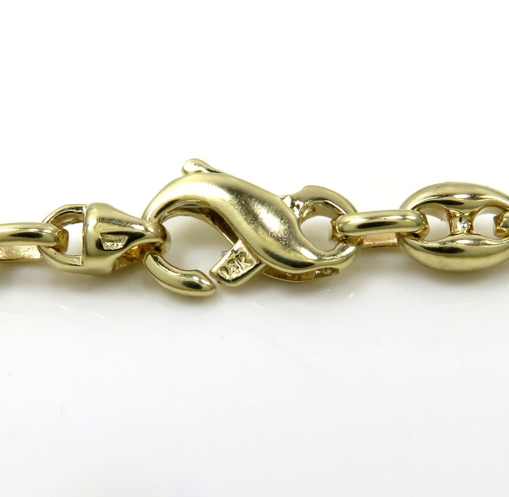 14k white or yellow gold solid gucci link chain 22- 26 inches 5.20mm