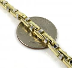 14k two tone gold anchor link chain 24-30 inch 4.80mm