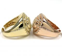 14k white yellow or rose gold diamond cake ring 2.85ct