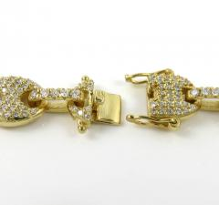 14k yellow white or rose gold diamond gucci puff link chain 18-30