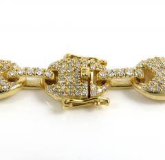 14k yellow white or rose gold diamond gucci puff link bracelet 8