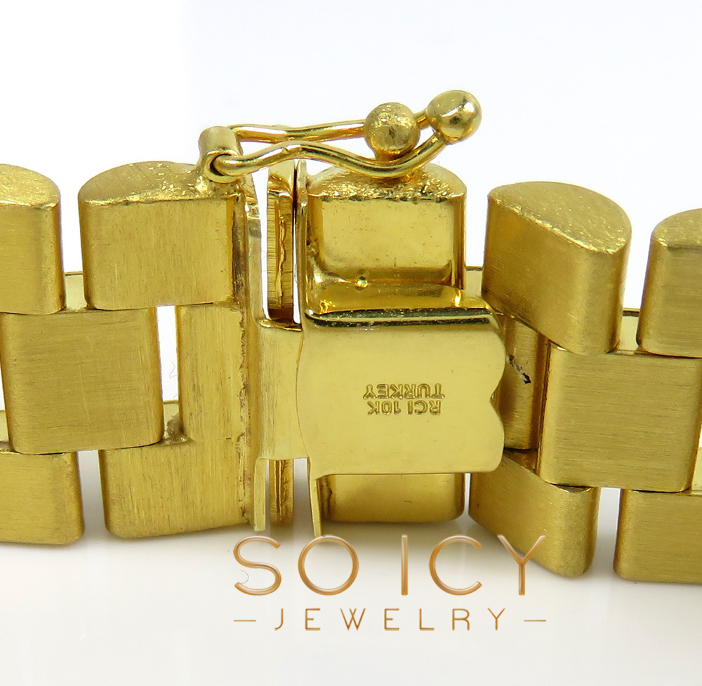 10k yellow gold presidential style bracelet 8.50