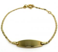 14k yellow gold kids i.d. bracelet 5-5.50