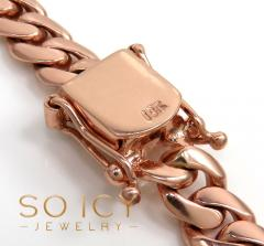 10k rose gold solid thick miami chain 16-30 inch 8mm