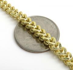 10k yellow gold franco bracelet 8.50 inch 4.80mm