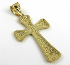 10k yellow gold large nugget cross