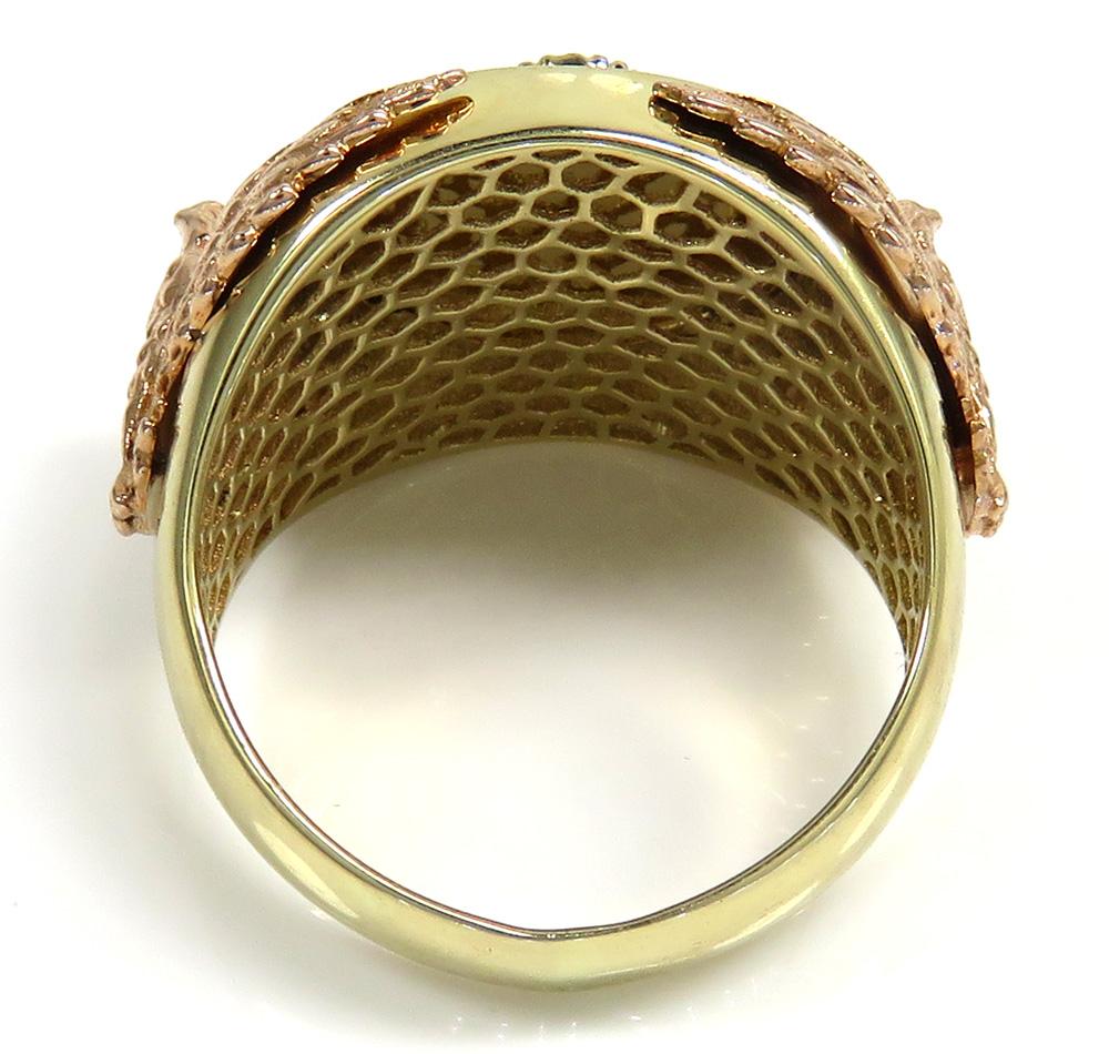 14k tri color gold american eagle ring