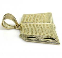 10k yellow gold small holy bible book pendant