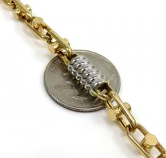 14k two tone gold fancy anchor link chain 24-26 inch 6-6.80mm
