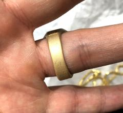 10k yellow gold large medusa ring