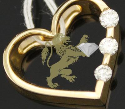 0.22ct 14k Yellow Gold Diamond '3 Diamond' Pendant