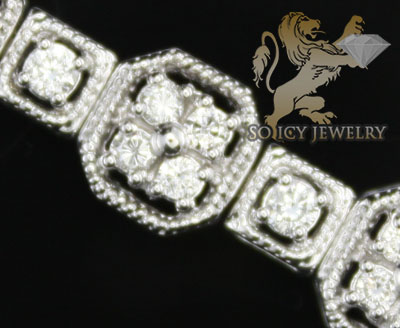 3.00ct 14k White Gold 'diamond Square Rope Link Bracelet'