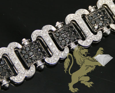 4.00ct 14k White Gold 'black & White Diamond' Bracelet