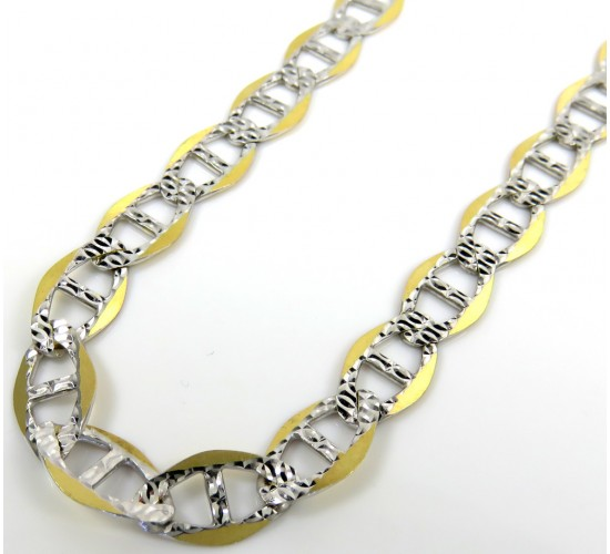 10k yellow gold yellow pave g mariner chain 30inch 7mm