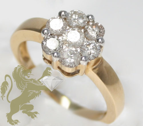 1.00ct ladies 14k solid yellow gold