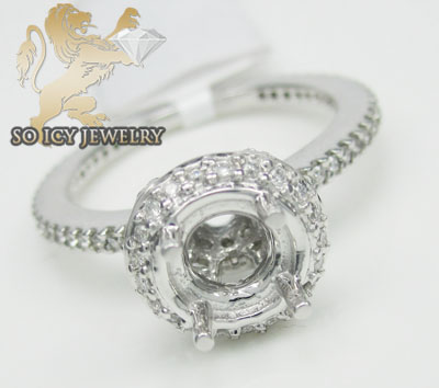 0.65ct 14k White Gold 'round Diamond Circle Semi Mount'