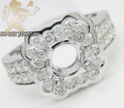 1.35ct 14k White Gold 'round Diamond Semi Mount Ring'