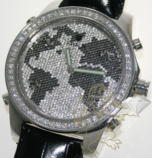 10.00ct mens rayalty genuine diamond watch