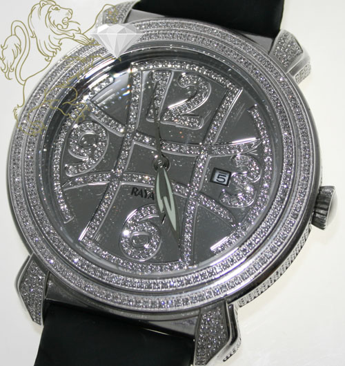 3.50ct Mens Rayalty Genuine Diamond Watch Full