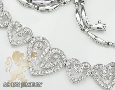 1.50ct 14k White Gold Round 'diamond Heart Necklace'