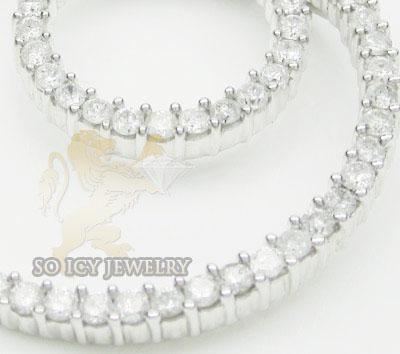 2.00ct 14k White Gold 'diamond Eternity Necklace Pendant'