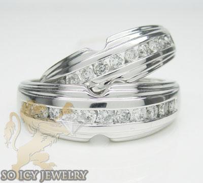 1.50ct 14k White Gold Diamond 'wedding Band Set'