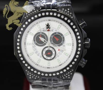 1.50ct Mens Richard & Co Genuine Diamond 'black Ice' Watch Item Photo Details