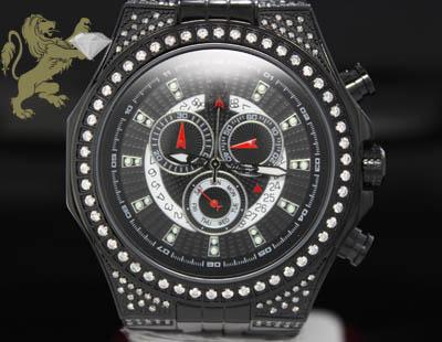 1.50ct Mens Richard & Co Genuine Diamond 'black Ice' Watch