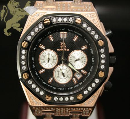1.75ct Mens Richard & Co Genuine Diamond Watch 'rose Tone Magnum'