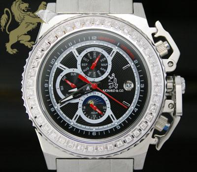 1.00ct Mens Richard & Co Genuine Diamond 'automatic/ Day-date' Watch