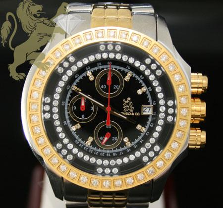 1.00ct Mens Richard & Co Genuine Diamond Watch 'two Tone Multi-link Lex'