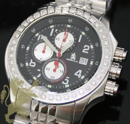 1.00ct Mens Richard & Co Genuine Diamond Watch 'multi-link Sport'