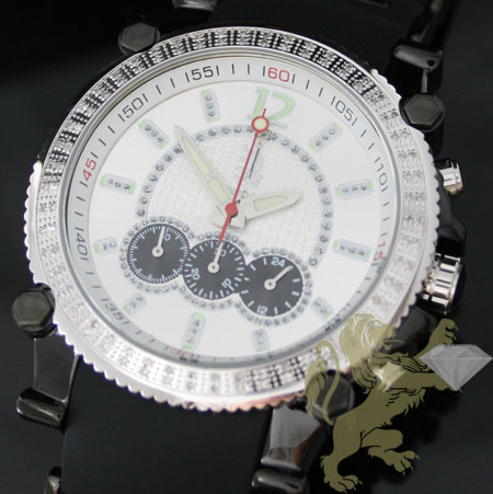 1.00ct Mens Richard & Co Genuine Diamond Watch 'black S.s. Sport'