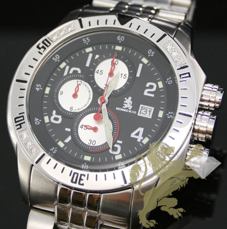 0.40ct Mens Richard & Co Genuine Diamond Watch 'multi-link Sport'