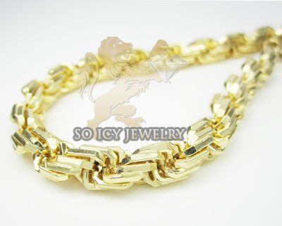 Mens 14k Solid Yellow Gold Rope Bracelet 6.2mm 8 Inch
