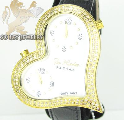 Ladies Joe Rodeo Diamond Watch Yellow Sahara Heart 1.40ct
