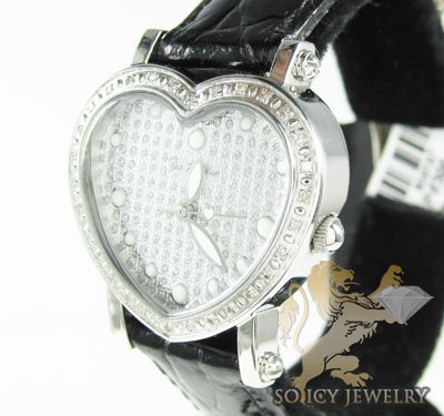 Ladies Joe Rodeo Diamond Watch White Mini Heart 0.27ct